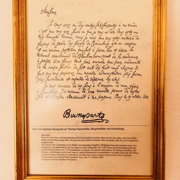Napoleon Bonaparte - Burghaus & Villa Kronenburg